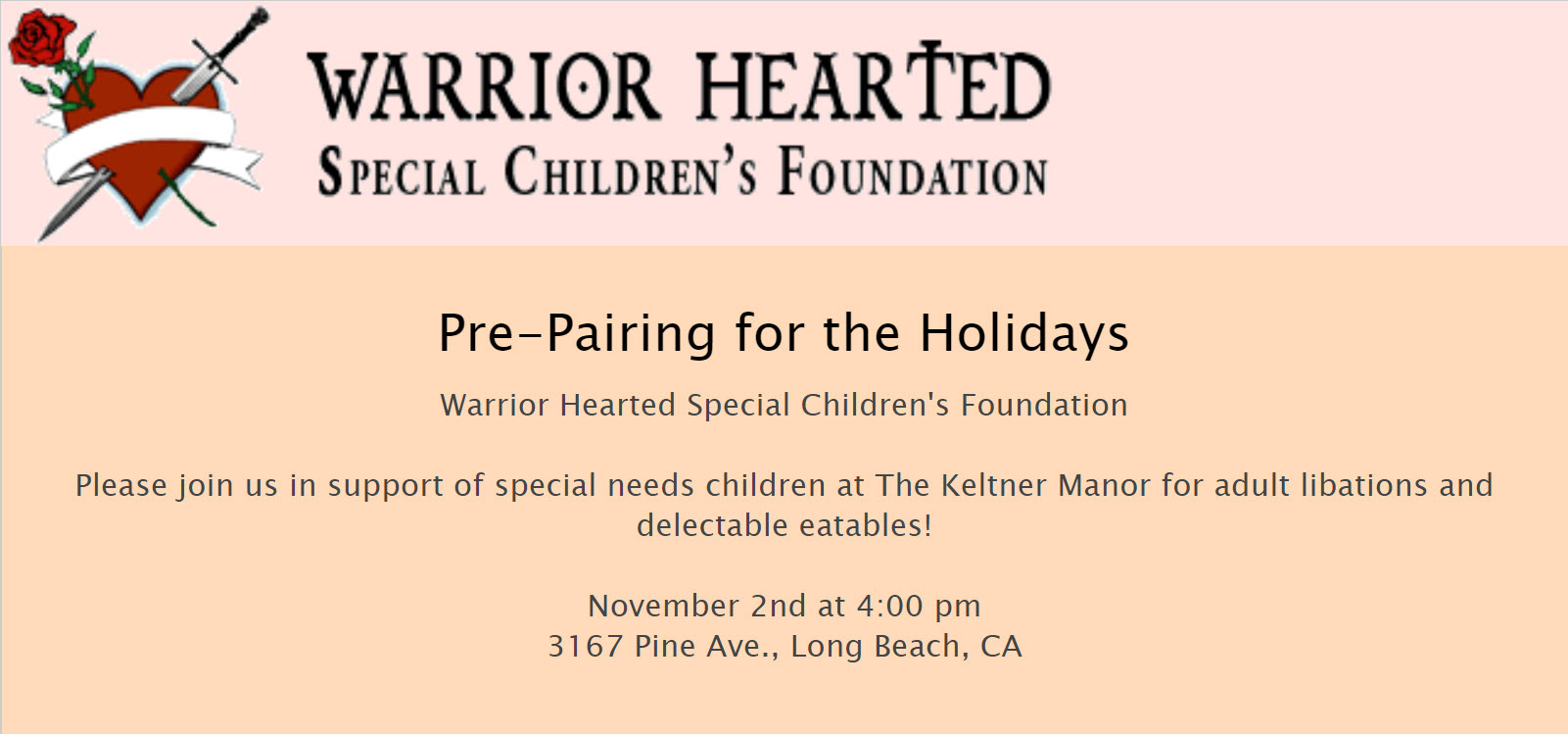 Food and Wine Pre-Pairing Fundraising Event